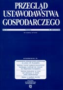 Przegląd Ustawodawstwa Gospodarczego Nr 01 / 2009