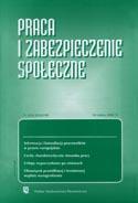 Praca i zabezpieczenie społeczne Nr 08 / 2007